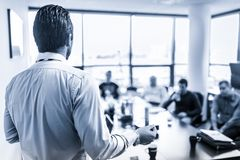 Business presentation on business meeting in corporate office. stock image