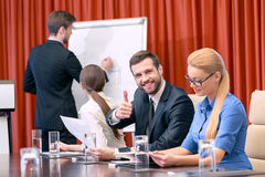 Business presentation at meeting Stock Image