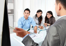 Business presentation in the office Stock Images