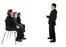 Business presentation in an office 3 Royalty Free Stock Photo