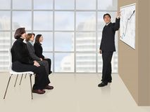 Business presentation in an office Royalty Free Stock Images
