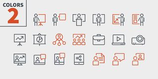 Business Presentation Outlined Pixel Perfect Well-crafted Vector Thin Line Icons 48x48 Ready for 24x24 Grid for Web. Graphics and Apps with Editable Stroke royalty free illustration