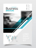 Business presentation with photo and geometric graphic elements. Stock Images