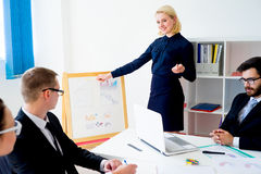 Business presentation in progress Stock Images