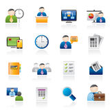 Business, presentation and Project Management icons Stock Photography