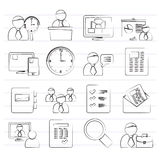 Business, presentation and Project Management icons Royalty Free Stock Image
