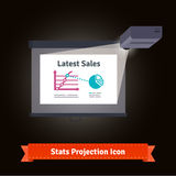 Business presentation  projector Stock Photos