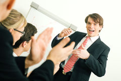 Business presentation: success Stock Photos