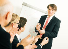 Business presentation: success Stock Photo