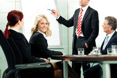 Business - presentation within a team royalty free stock photo