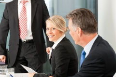 Business - presentation within a team Royalty Free Stock Image