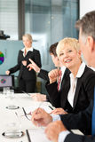 Business - presentation within a team Stock Photos