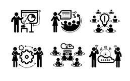 Business presentation teamwork concept icons Stock Image