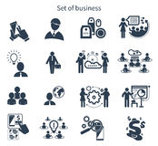 Business presentation teamwork concept icons Royalty Free Stock Images