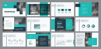 Business presentation template design and page layout design for brochure ,annual report and company profile