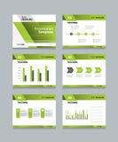 Business presentation and template slides background design Stock Images