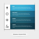 Business Presentation Template Stock Images