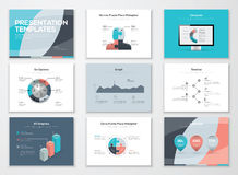 Business presentation templates and infographic vector elements vector illustration
