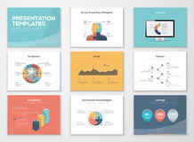 Business presentation templates and infographics vector elements Royalty Free Stock Images