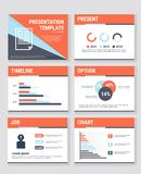 Business presentation templates and infographics vector elements. Information graphics for advertisements, websites, flat design, vector illustion flat design Royalty Free Stock Images