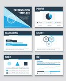 Business presentation templates and infographics vector elements. Information graphics for advertisements and websites, vector illustion flat design style Stock Photos