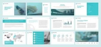 Business presentation templates Stock Photography
