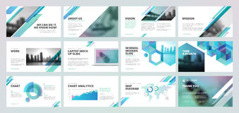 Business presentation templates Royalty Free Stock Photography
