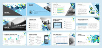 Business presentation templates Royalty Free Stock Image