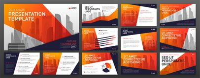 Business presentation templates. Use for powerpoint templates, ppt layout, presentation background, brochure design, website slider, corporate report Royalty Free Stock Photos