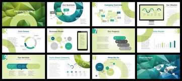 Business presentation templates. Vector infographic elements for company presentation slides, corporate annual report, marketing flyers, leaflets and brochures Royalty Free Stock Photo
