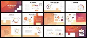 Business presentation templates Stock Photos