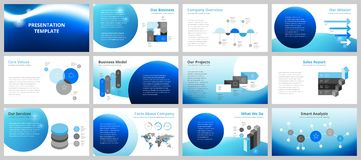 Business presentation templates Stock Photo