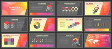 Business presentation templates vector illustration