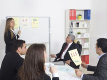 Business presentation to a group Royalty Free Stock Image