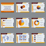 Business presentation vector design template Royalty Free Stock Image