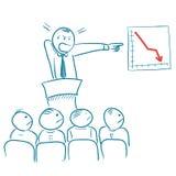 Business presentation. Vector sketchy illustration Stock Photography