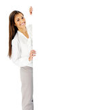 Business presentation woman. Stock Photo