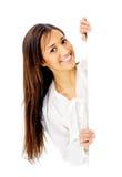 Business presentation woman. Stock Photography