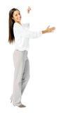 Business presentation woman. Stock Photos