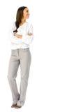 Business presentation woman. Royalty Free Stock Photos