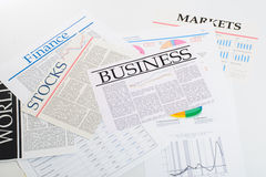Business press Stock Photography