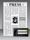 Business press website template Stock Photos