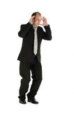 Business, pressure. Businessman suffering under heavy workload and business pressure Stock Images
