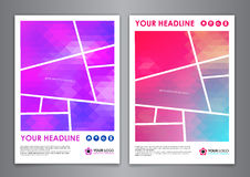 A5 business print template. Brochure or annual report cover, identity illustration, abstract Modern Backgrounds Royalty Free Stock Photography