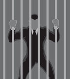 Business Prisoner outline Stock Images