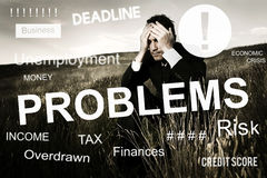 Business Problem Concern Worried Graphic Concept royalty free stock photography