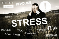 Business Problem Concern Worried Graphic Concept royalty free stock images