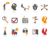 Business problem solving icons,orange color series Stock Image