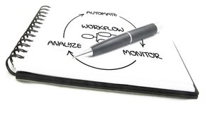 Business process automation stock images