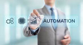 Business process automation industrial technology innovation optimisation concept. royalty free illustration